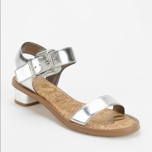 06ac092509a905 Sam Edelman Shoes - Sam Edelman Trina Sandals silver metallic leather